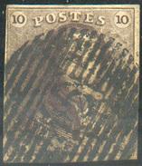 N°1 - Epaulette 10 Centimes Brune, TB Margée, Obl. P.45 GAND . TB  - 11628 - 1849 Epaulettes