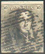 N°1 - Epaulette 10 Centimes Brune, TB Margée, Obl. P.85 NAMUR . TB  - 11629 - 1849 Epaulettes