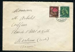 Suisse - Cover / Enveloppe De Chaux De Fonds  Pour La France En 1948 , Affr. Plaisant     Ref F165