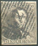 N°1 - Epaulette 10 Centimes Brune, Bien Margée , Obl. P.62 HUY Centrale -  11636 - 1849 Epaulettes