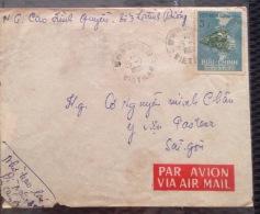 South Vietnam Viet Nam Cover 1962 With Hue Postmark & Train Stamp - Viêt-Nam