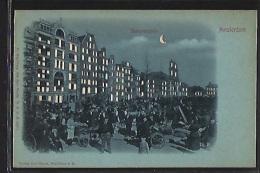 AMSTERDAM - Waterlooplein - HOLD TO LIGHT POSTCARD - Publ. Hagelberg Carl Baum