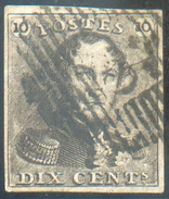 N°1 - Epaulette 10 Centimes Brune, Margée .  - 11647 - 1849 Epaulettes