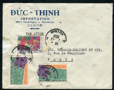 Viêt - Nam - Cover / Enveloppe Commerciale De Saïgon Pour Paris En 1959 Par Avion  Ref F183
