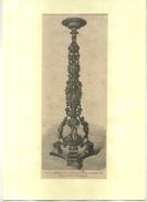 ITALIE VENISE . CANDELABRE DE VITTORIA . GRAVURE SUR BOIS DU XIXe S. DECOUPEE ET COLLEE SUR PAPIER . - Sculptures