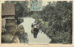 Somme - Ref-B870- Amiens - Les Hortillonnages (1) - Hortillonnage - Agriculture - Metiers - Carte Colorisee Bon Etat - - Amiens