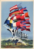 [DC9738] CPA - L' ERP BELLISSIMA CARTOLINA ARTISTICA A VELE SPIEGATE EUROPA BARCA A VELA - Non Viaggiata - Old Postcard - Cartoline