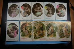 Lot De 10 Cartes Postales Fantaisies Femmes Couples (7) - Women