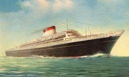 [DC9742] CPA - LEONARDO DA VINCI LINEA ESPRESSO MEDITERRANEO NORD AMERICA ITALIA SOC. - Non Viaggiata - Old Postcard - Commercio