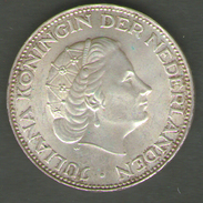 PAESI BASSI 2 1/2 GULDEN 1966 AG SILVER - [ 3] 1815-… : Regno Dei Paesi Bassi