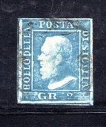 ASI452 - SICILIA, 2 GRANA N. 6 Tavola 1 Ritocco 36 USATO. Em.DIENA - Sicilia