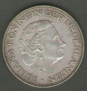 PAESI BASSI 2 1/2 GULDEN 1961 AG SILVER - [ 3] 1815-… : Regno Dei Paesi Bassi