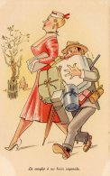 [DC9756] CPA - HUMOR - ILLUSTRATION - LA MOGLIE E' UN BUON CAPORALE - Non Viaggiata - Old Postcard - Humor
