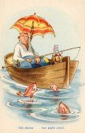 [DC9757] CPA - HUMOR - ILLUSTRATION - CHI DORME NON PIGLIA PESCI - Non Viaggiata - Old Postcard - Humor