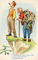 [DC9759] CPA - HUMOR - ILLUSTRATION - IL CONQUISTAR LE VETTE, FACILE E' ASSAI SE SULLE... - Non Viaggiata - Old Postcard - Humor