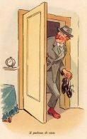 [DC9760] CPA - HUMOR - ILLUSTRATION - IL PADRONE DI CASA - Non Viaggiata - Old Postcard - Humor