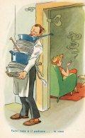 [DC9761] CPA - HUMOR - ILLUSTRATION - FUORI CASA E' IL PADRONE ... IN CASA ... - Non Viaggiata - Old Postcard - Humor