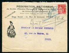France - Cover / Enveloppe Commerciale Illustrée De Paris Pour Paris En 1933  Ref F192 - Marcophilie (Lettres)