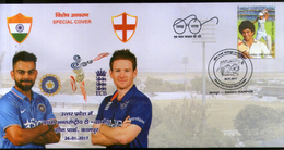 India 2017 England 1st T20 Cricket Match Virat Kohli Eion Morgan Sport Special Cover # 6630
