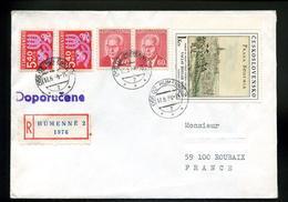 Marcophilie,lettre1988,complément Affranchissement Autorisé Par Timbres-taxe Lettre Recommandée,Prague 17.siècle,Humenné - Postage Due