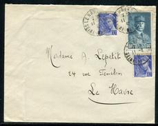 France - Cover / Enveloppe De Le Havre Pour Le Havre En 1941 , Aff. Pétain Et Mercure             Ref F205 - Marcophilie (Lettres)