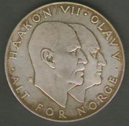 NORWAY - 25 KRONER (1970 - 25 Th ANNIVERSARY Of LIBERATION ) AG SILVER - Norvegia
