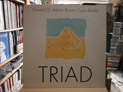 TRIAD - LP - NUBIAN RECORDS - GENERAL D - Adrian BROWN - Tippa RANKIN - BLACK ROOTS - REGGAE - Reggae