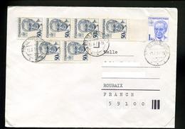 Marcophilie,lettre1987,entier Postal Président Husak 1 Kcs De Tchecoslovaquie Pour La France