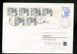 Marcophilie,lettre1987,entier Postal Président Husak 1 Kcs De Tchecoslovaquie Pour La France - Covers