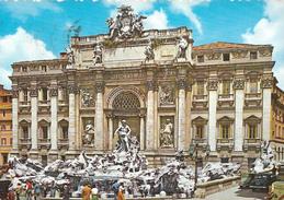 ROMA - FONTANA  DI  TREVI   - VIAGGIATA - Fontana Di Trevi
