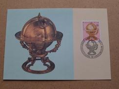 HIMMELSGLOBUS Von Jost BÜRGI ( PTT 1983 ) Stamp Zürich 3-5-1983 ( Zie Foto ) ! - Cartoline Maximum