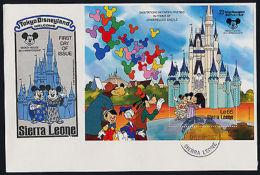 Sierra Leone 943 On FDC - Disney, Tokyo Disneyland - Sierra Leone (1961-...)