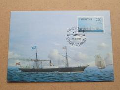 FOROYAR 220 (Skip / Ship) Stamp TORSHAVN 21-2-1983 ( Zie Foto ) ! - Cartoline Maximum