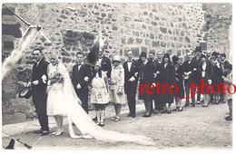 Cpa Carte-photo Mariage, Mariés, Devant L'église D'Arles Sur Tech - France