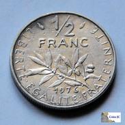 Francia - 1/2 Franc - 1976 - G. 50 Céntimos