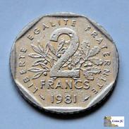 Francia - 2 Francs - 1981 - Francia