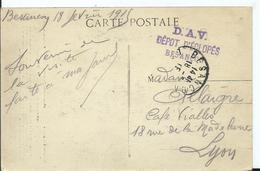 D.A.V. DEPOT DES ECLOPES BESANCON - Sur Carte Postale - Postmark Collection (Covers)