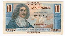 Billet De 10 Francs CAISSE CENTRALE DE LA FRANCE D'OUTRE MER    - LA REUNION  -   ND - Réunion
