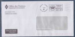 = Flamme Carabiniers Du Prince Bicentenaire Monte-Carlo 7.2.17 En Franchise Office Des Timbres Principauté De Monaco - Poststempel