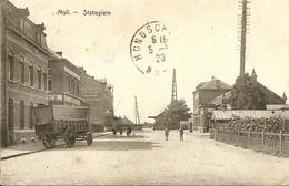 Mol - Statieplein - Geanimeerd - Uitgave Swerts, Van Gompel, Luyckx - 1920 - Mol