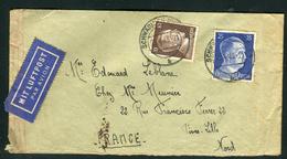 Allemagne - Cover / Enveloppe De Schwabisch Pour La France En 1943 Par Avion , Contrôle Postal   Ref F226 - Briefe U. Dokumente