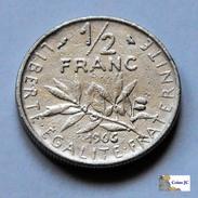 Francia - 1/2 Franc - 1966 - G. 50 Céntimos