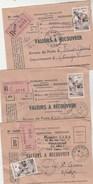 Lot N° 12 : 9 Lettres 1956 Yvert 1073 Sport Pelote Basque Seul Sur Lettre Recommandée Valeurs à Recouvrer Voir Bureaux - France