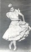 BAILAORA ROSARIO ESCUDERO BAILE FLAMENCO ABSTRACTO AUTOGRAFO SOBRE FOTOGRAFO ROMAN DE BARCELONA CIRCA 1950