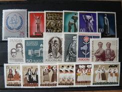 YOUGOSLAVIE - 1961 N° 842 ** + 871/887 ** (voir Scan) - 1945-1992 Sozialistische Föderative Republik Jugoslawien