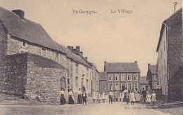 St-Georges  Le Village Super Animé Circulé En 1913 - Saint-Georges-sur-Meuse
