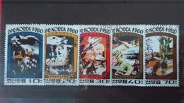 LES CONQUERANTS DE L'UNIVERS - Corée Du Nord 1980 Idem Bloc N°1593F - Oblitérés