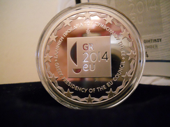 "Greece 10 Euro Silver Proof 2014 ""EU Presidency 2014"" - Grèce"