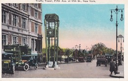 NEW YORK----RARE----traffic Tower,fifth Ave. At 57th St., New York----voir 2 Scans - NY - New York