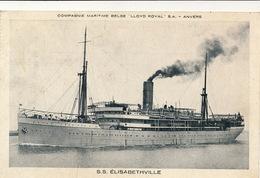 COMPAGNIE  MARITIME BELGE - LLOYD ROYAL - S.S. ELISABETHVILLE - Dampfer